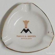 Ceniceros: CENICERO MANILA HOTEL BARCELONA. Lote 140339730