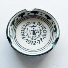 Ceniceros: CENICERO FACULTAD DE DERECHO 1972-77 DE CERÁMICA. Lote 140340266
