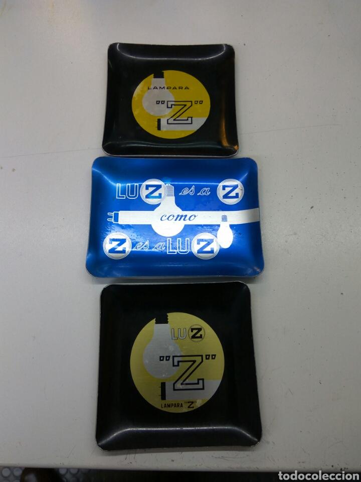 CENICERO LÁMPARAS Z LOTE DE 3 (Coleccionismo - Objetos para Fumar - Ceniceros)