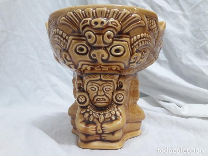 Ceniceros: Precioso cenicero de porcelana inspiración precolombina - Foto 2 - 143158998