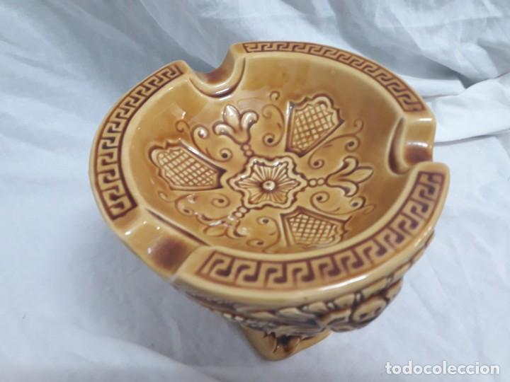Ceniceros: Precioso cenicero de porcelana inspiración precolombina - Foto 3 - 143158998