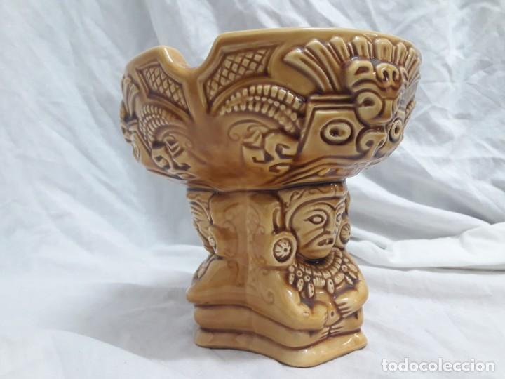 Ceniceros: Precioso cenicero de porcelana inspiración precolombina - Foto 4 - 143158998