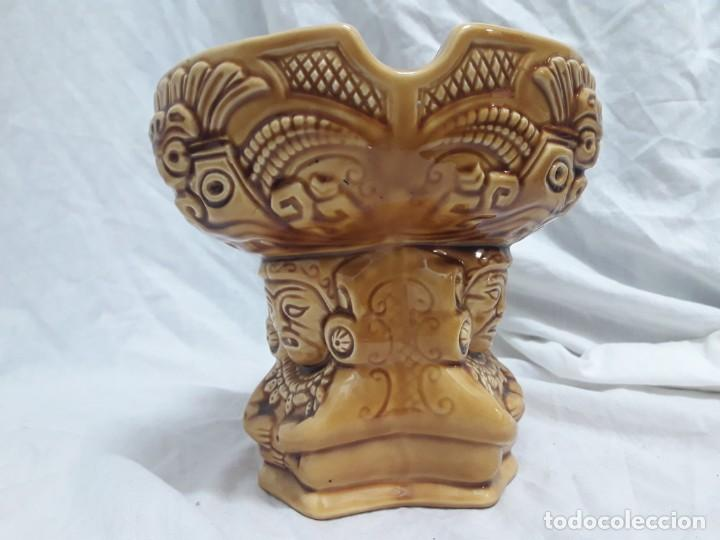 Ceniceros: Precioso cenicero de porcelana inspiración precolombina - Foto 5 - 143158998