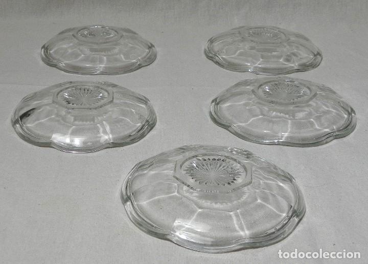 Ceniceros: Lote 5 Ceniceros Cristal Transparente Vidrio Años 1970 Vintage - Foto 2 - 144736314