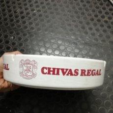Ceniceros: GRAN CENICERO PUBLICIDAD CHIVAS REGAL. MEDIDAS 22 X 5 CM.. Lote 145527282