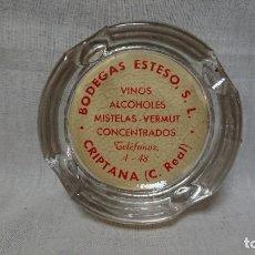 Ceniceros: ANTIGUO Y RARO CENICERO BODEGAS ESTESO S. L. ( VINOS, ALCOHOLES, VERMUT....)- CRIPTANA, CIUDAD REAL . Lote 146684018