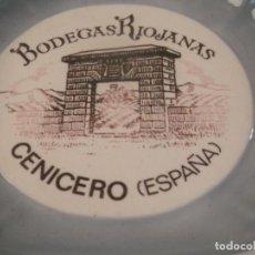 Ceniceros: ANTIGUO CENICERO PORCELANA LLADRÓ PUBLICIDAD BODEGAS RIOJANAS. . Lote 147031258