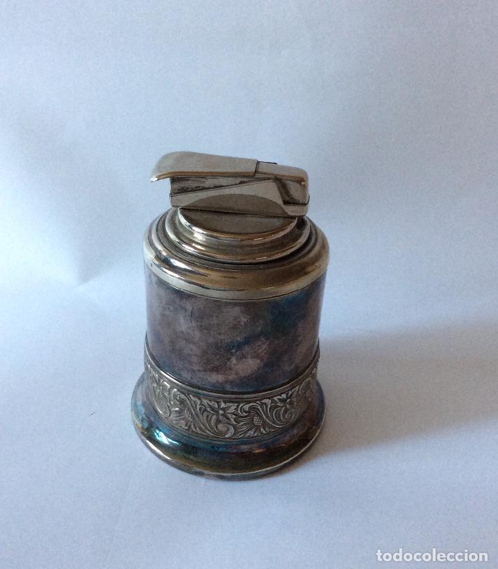 Ceniceros: ENCENDEDOR DE SOBREMESA SILVER GEMA. Encendedor / mechero IB west Germany - Silver Gema. - Foto 2 - 147175290