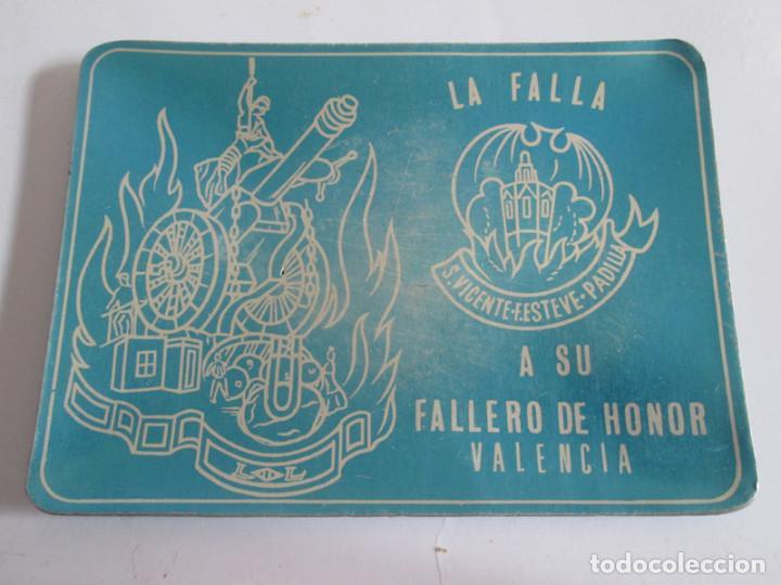 CENICERO DE ALUMINIO - LA FALLA S. VICENTE-F.ESTEVE-PADILLA - VALENCIA - 12X9 CM (Coleccionismo - Objetos para Fumar - Ceniceros)