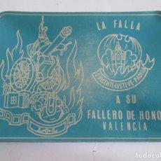 Ceniceros: CENICERO DE ALUMINIO - LA FALLA S. VICENTE-F.ESTEVE-PADILLA - VALENCIA - 12X9 CM. Lote 147771058