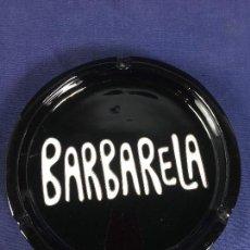Ceniceros: CENICERO CIRCULAR CERÁMICA VIDRIADA NEGRA BARBARELA S XX. Lote 150196614