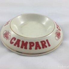 Ceniceros: CENICERO BITTER CAMPARI CERAMICA. Lote 151845806