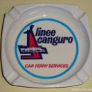 Ceniceros: CENICERO. AÑOS 70. NAVIERA BARCOS. LINEE CANGURO CAR FERRY SERVICES. BUQUES ITALIA. 9 CM. 60 GR. Lote 158680514