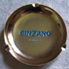 Ceniceros: ANTIGUO CENICERO DE VERMOUTH CINZANO EN ALUMINIO VINTAGE. Lote 163951090