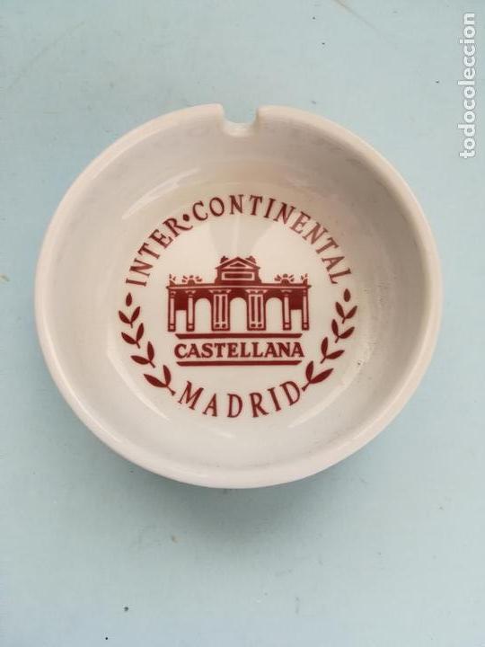 CENICERO PORCELANA HOTEL INTERCONTINENTAL CASTELLANA MADRID #MV (Coleccionismo - Objetos para Fumar - Ceniceros)