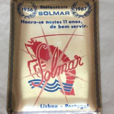 Ceniceros: CENICERO RESTAURANTE SOLMAR 1956-1967 LISBOA PORTUGAL. Lote 167784936