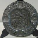 Ceniceros: CENICERO DE METAL CON ESCENA DEL QUIJOTE. Lote 168612180