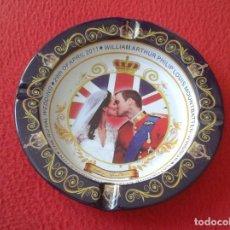 Ceniceros: CENICERO ASHTRAY CENDRIER 2011 ROYAL WEDDING BODA REAL UK CATHERINE MIDDLETON KATE PRINCE WILLIAM . Lote 169401888