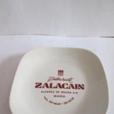 Ceniceros: BANDEJITA CENICERO - RESTAURANTE ZALACAIN - MADRID - PORCELANA MOAHSA - 12X12. Lote 170407728