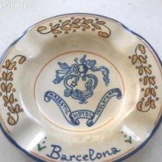 Ceniceros: CENICERO DE PORCELANA DEL HOTEL MAJESTIC BARCELONA 1980'S. . Lote 171487593