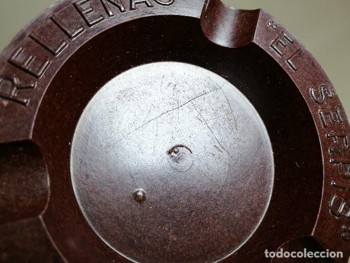 Ceniceros: Cenicero Publicitario de baquelita -ACEITUNAS RELLENAS EL SERPIS - AÑOS 40-50 - Foto 7 - 171633892