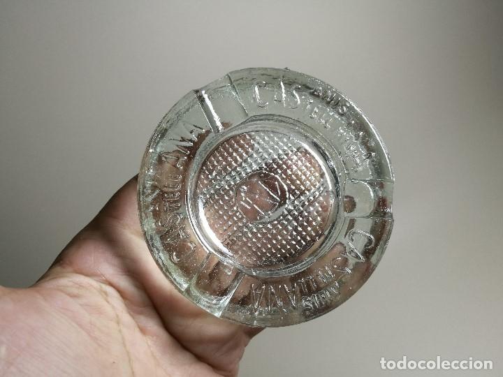 Ceniceros: Cenicero Publicitario de vidrio cristal- ANIS LA CASTELLANA - Años 50 - Foto 4 - 171696742