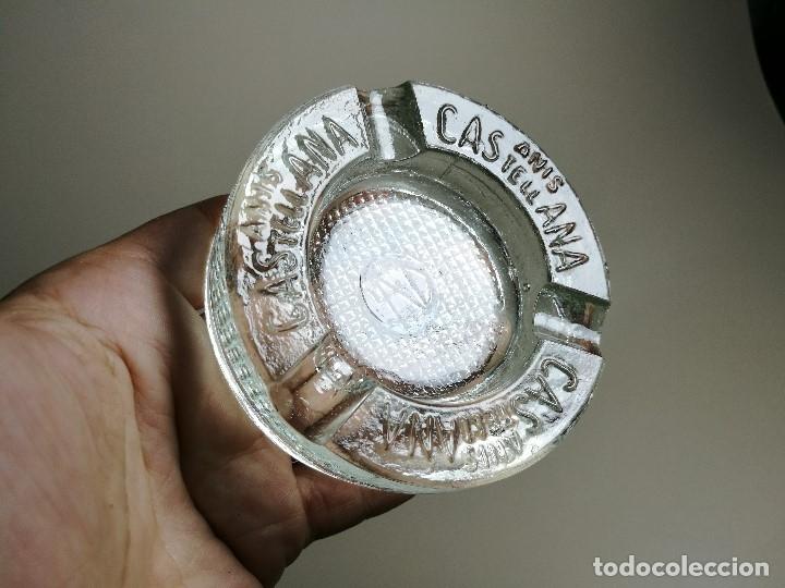 Ceniceros: Cenicero Publicitario de vidrio cristal- ANIS LA CASTELLANA - Años 50 - Foto 2 - 171696742