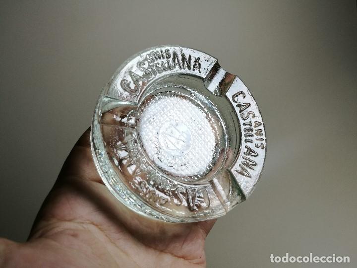 Ceniceros: Cenicero Publicitario de vidrio cristal- ANIS LA CASTELLANA - Años 50 - Foto 7 - 171696742