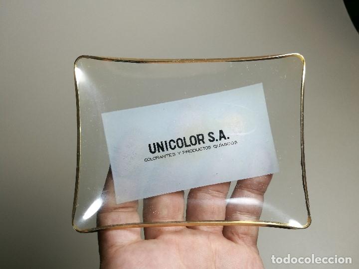 Ceniceros: Cenicero Publicitario de vidrio cristal-UNICOLOR S.A COLORANTES Y QUIMICOS-BAYER Años 40-50 - Foto 6 - 171699309