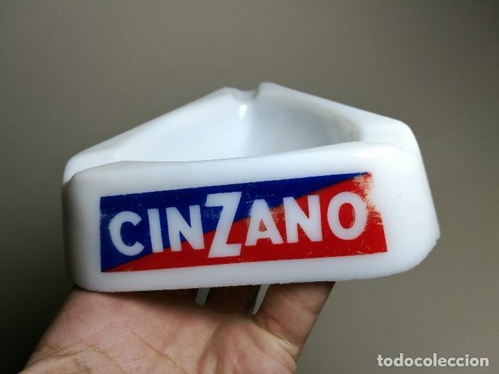 Ceniceros: Cenicero Publicitario de vidrio cristal OPALINA - CINZANO Años -50-60 S.E.V.N -GUERVILLE - Foto 3 - 171703267