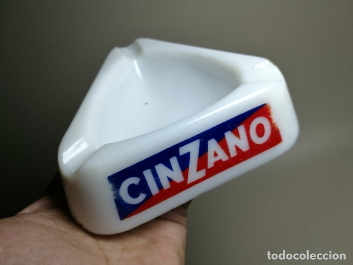 Ceniceros: Cenicero Publicitario de vidrio cristal OPALINA - CINZANO Años -50-60 S.E.V.N -GUERVILLE - Foto 8 - 171703267