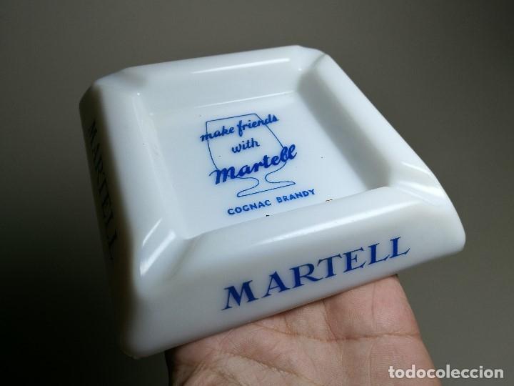 Ceniceros: Cenicero Publicitario de vidrio cristal OPALINA - COÑAC BRANDY MARTEL Años -50-60 - Foto 2 - 171703614