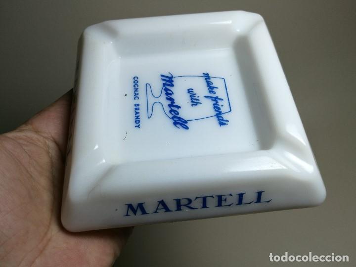 Ceniceros: Cenicero Publicitario de vidrio cristal OPALINA - COÑAC BRANDY MARTEL Años -50-60 - Foto 4 - 171703614