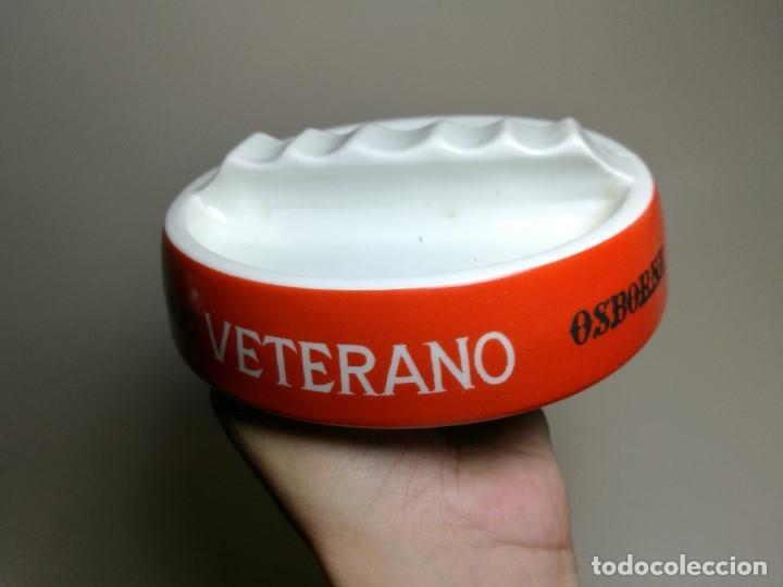 Ceniceros: Cenicero Publicitario de PORCELANA CERAMICA --BRANDY VIEJO VETERANO OSBORNE Años-50- 60 - Foto 2 - 171706590