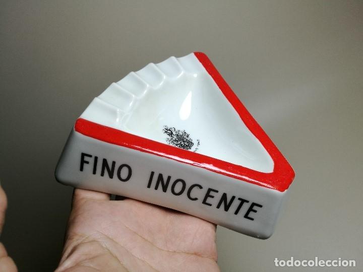 Ceniceros: Cenicero Publicitario de PORCELANA CERAMICA VALDESPINO.Fino Inocente, Brandy 1850. AÑOS 50-60. - Foto 6 - 171707565