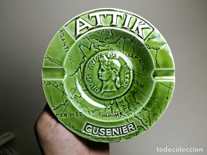 Ceniceros: Cenicero Publicitario de PORCELANA CERAMICA bebida---ATTIK CUSENIER AÑOS 50-60. - Foto 4 - 171708100