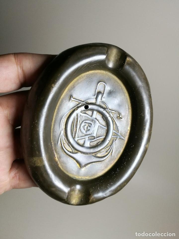 Ceniceros: Cenicero Publicitario de chapa bronce y hierro---CLUB NAUTICO TARRAGONA 1900 - Foto 3 - 171708424
