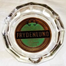Ceniceros: ANTIGUO CENICERO CON PUBLICIDAD DE FRYDENLUND NORWEGIAN PILSNER BEER. Lote 171830607