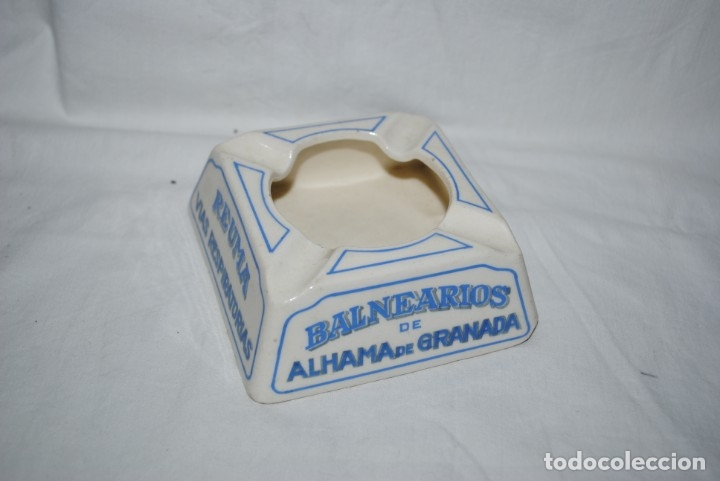 CENICERO , BALNEARIOS DE ALHAMA DE GRANADA . (Coleccionismo - Objetos para Fumar - Ceniceros)