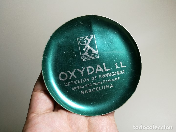Ceniceros: Cenicero Aluminio serigrafiado Publicitario --OXYDAL S.L--BARCELONA - Foto 2 - 175025479
