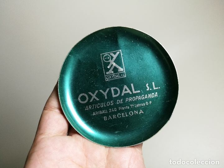 CENICERO ALUMINIO SERIGRAFIADO PUBLICITARIO --OXYDAL S.L--BARCELONA (Coleccionismo - Objetos para Fumar - Ceniceros)