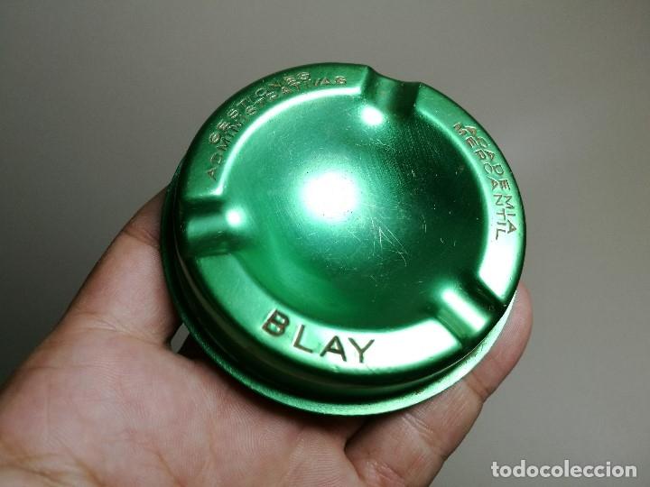 Ceniceros: Cenicero Aluminio serigrafiado Publicitario --ACADEMIA MERCANTIL- BLAY -BARCELONA - Foto 3 - 175025764