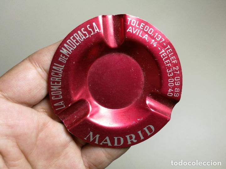 CENICERO ALUMINIO SERIGRAFIADO PUBLICITARIO -LA COMERCIAL DE MADERAS.S.A--- MADRID (Coleccionismo - Objetos para Fumar - Ceniceros)