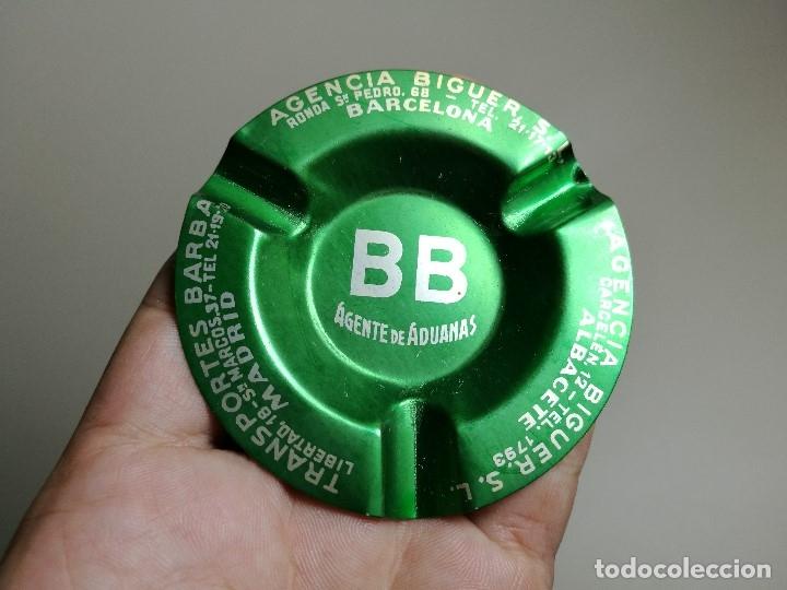 Ceniceros: Cenicero Aluminio serigrafiado Publicitario -BB AGENTE ADUANAS BIGUER S.L -ALBACETE BARCELONA - Foto 3 - 175026353