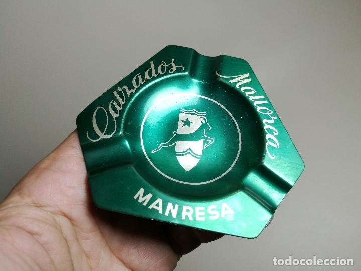 Ceniceros: Cenicero Aluminio serigrafiado Publicitario CALZADOS MALLORCA--MANRESA-BARCELONA - Foto 3 - 175026669