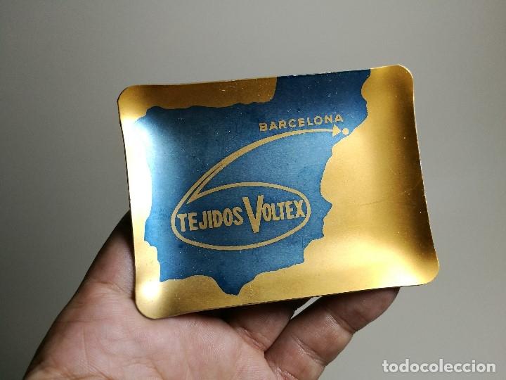 Ceniceros: Cenicero Aluminio serigrafiado Publicitario TEJIDOS VOLTEX-BARCELONA - Foto 3 - 175045975