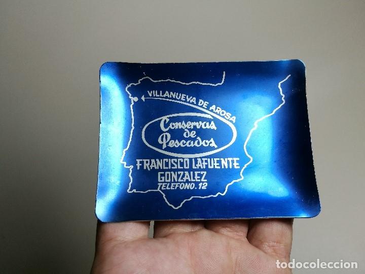 Ceniceros: Cenicero Aluminio serigrafiado Publicitario CONSERVAS PESCADO FCO LAFUENTE GONZALEZ VILLANUEVA AROSA - Foto 3 - 175046080