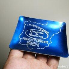 Ceniceros: CENICERO ALUMINIO SERIGRAFIADO PUBLICITARIO CONSERVAS PESCADO FCO LAFUENTE GONZALEZ VILLANUEVA AROSA. Lote 175046080