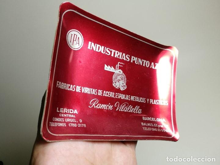 Ceniceros: Cenicero Aluminio serigrafiado Publicitario INDUSTRIAS PUNTO AZUL-RAMON VILATELLA BARCELONA - Foto 3 - 175046347
