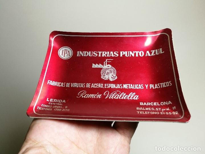Ceniceros: Cenicero Aluminio serigrafiado Publicitario INDUSTRIAS PUNTO AZUL-RAMON VILATELLA BARCELONA - Foto 4 - 175046347